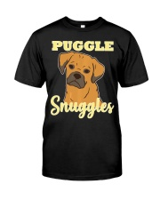 Puggle Pug Beagle Dog Snuggles Funny Cute  Classic T-Shirt front