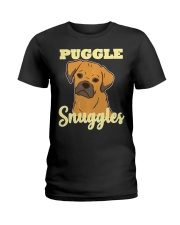 Puggle Pug Beagle Dog Snuggles Funny Cute  Ladies T-Shirt thumbnail