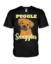 Puggle Pug Beagle Dog Snuggles Funny Cute  V-Neck T-Shirt thumbnail