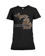 Michigan Petoskey Stone - Fun Michigander S Premium Fit Ladies Tee thumbnail