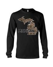 Michigan Petoskey Stone - Fun Michigander S Long Sleeve Tee thumbnail