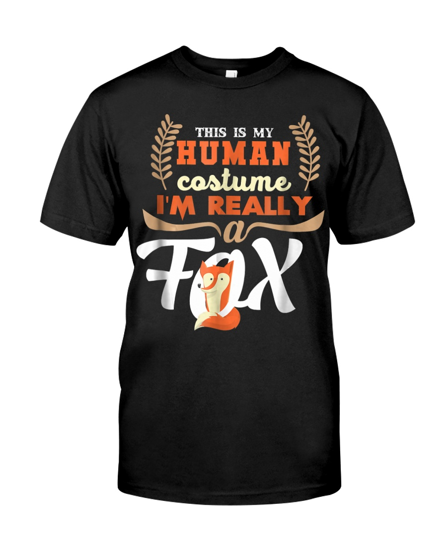 Funny Fox Tees - My Human Costume T-Shirt Classic T-Shirt