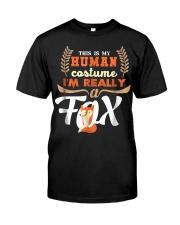 Funny Fox Tees - My Human Costume T-Shirt Classic T-Shirt front