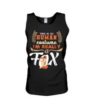 Funny Fox Tees - My Human Costume T-Shirt Unisex Tank thumbnail
