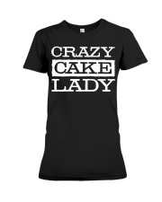 Crazy Cake Lady - Funny Pastry C Premium Fit Ladies Tee thumbnail