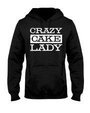 Crazy Cake Lady - Funny Pastry C Hooded Sweatshirt thumbnail