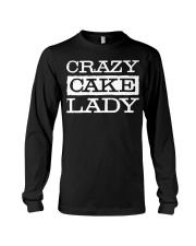 Crazy Cake Lady - Funny Pastry C Long Sleeve Tee thumbnail