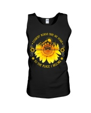 Sunflower Country Roads Take Me Home Unisex Tank thumbnail