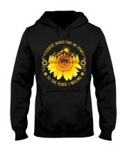 Sunflower Country Roads Take Me Home Hooded Sweatshirt thumbnail
