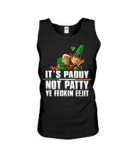 Its Paddy Not Patty Ye Feckin Eejit St Unisex Tank thumbnail