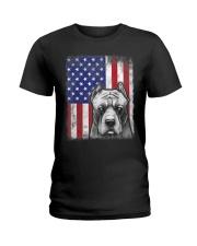 Pitbull American Flag Shirt USA Patriotic D Ladies T-Shirt thumbnail