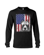 Pitbull American Flag Shirt USA Patriotic D Long Sleeve Tee thumbnail