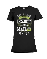 Postal Worker Shirt Don't Judge Me Postma Premium Fit Ladies Tee thumbnail