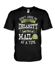 Postal Worker Shirt Don't Judge Me Postma V-Neck T-Shirt thumbnail