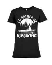I'd Rather Be Kayaking shirt Fun Premium Fit Ladies Tee thumbnail