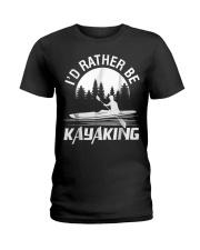 I'd Rather Be Kayaking shirt Fun Ladies T-Shirt thumbnail