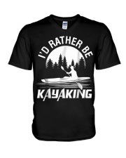 I'd Rather Be Kayaking shirt Fun V-Neck T-Shirt thumbnail