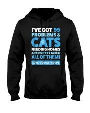 Cat Rescue Shirt  Animal Rescue TShirt Cat A Hooded Sweatshirt thumbnail