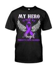 My Hero Is Now My Angel Pancreatic  Classic T-Shirt front