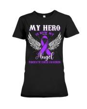 My Hero Is Now My Angel Pancreatic  Premium Fit Ladies Tee thumbnail