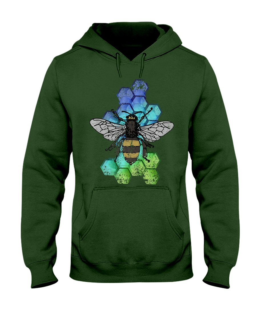 Honey Bee Beekeeping Shirt Vint Hooded Sweatshirt