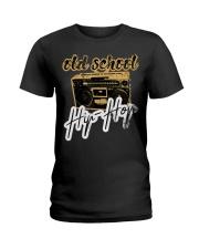 Old School Hip-Hop with Retro Radio Ghettobla Ladies T-Shirt thumbnail