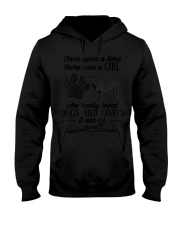 Once upon Girl who really loved Dog and Hooded Sweatshirt thumbnail