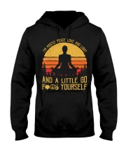 I'm Mostly Peace Love And Light And A Little  Hooded Sweatshirt thumbnail