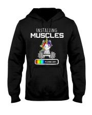 Installing Muscles - Unicorn Loading - Hooded Sweatshirt thumbnail