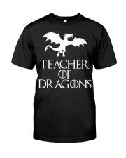 Teacher Of Dragons T-Shirt Halloween Funny Co Premium Fit Mens Tee thumbnail