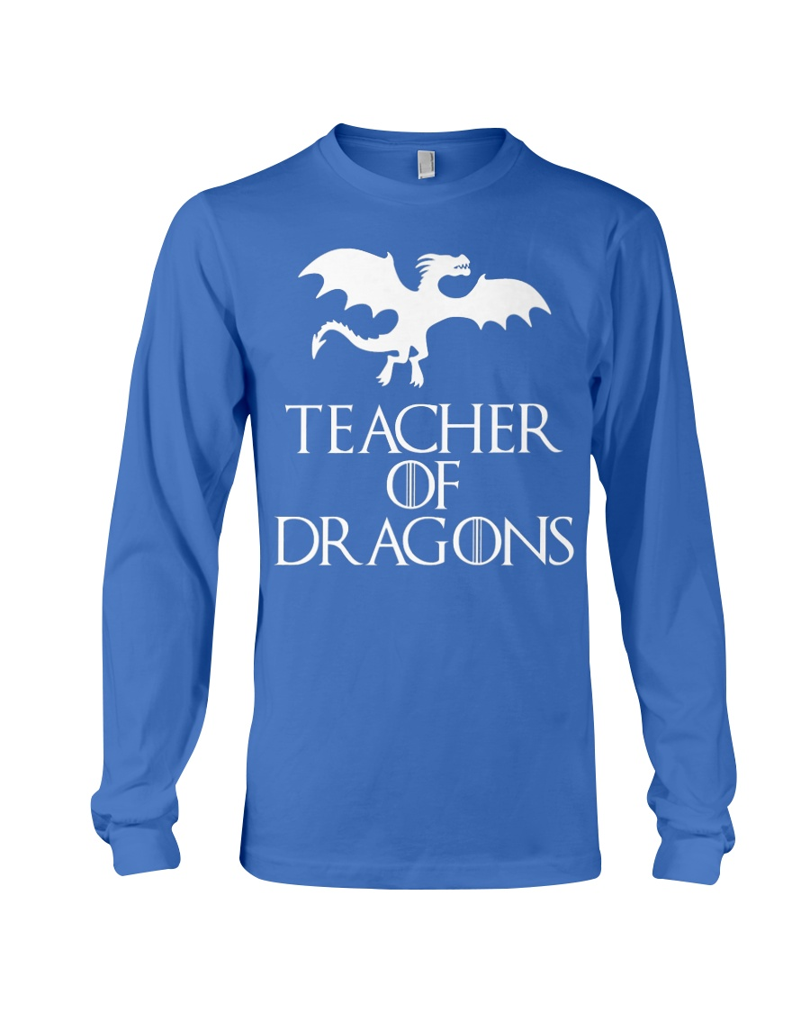 Teacher Of Dragons T-Shirt Halloween Funny Co Long Sleeve Tee