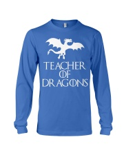 Teacher Of Dragons T-Shirt Halloween Funny Co Long Sleeve Tee front