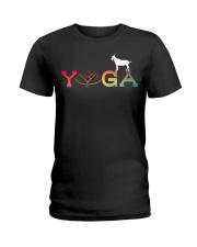 Womens Yoga Goat Farming-Goat Yoga L Ladies T-Shirt thumbnail
