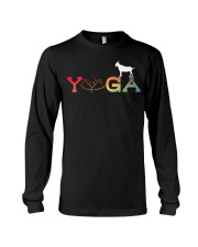 Womens Yoga Goat Farming-Goat Yoga L Long Sleeve Tee thumbnail