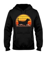 Sunset Silhouette Vintage Retro Basset Hound  Hooded Sweatshirt tile