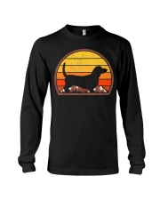 Sunset Silhouette Vintage Retro Basset Hound  Long Sleeve Tee tile