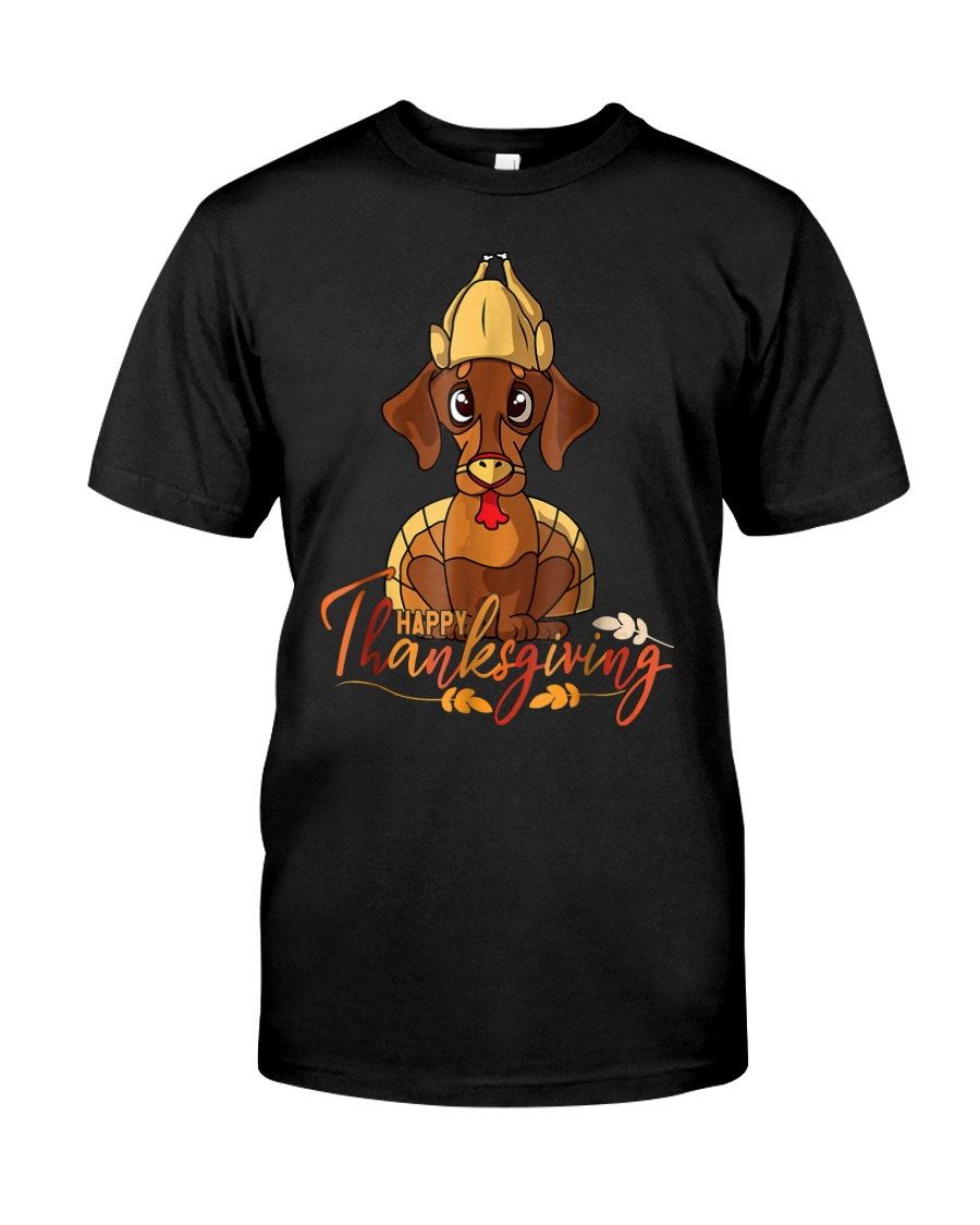 Happy Thanksgiving Dachshund Turk Classic T-Shirt