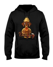 Happy Thanksgiving Dachshund Turk Hooded Sweatshirt thumbnail