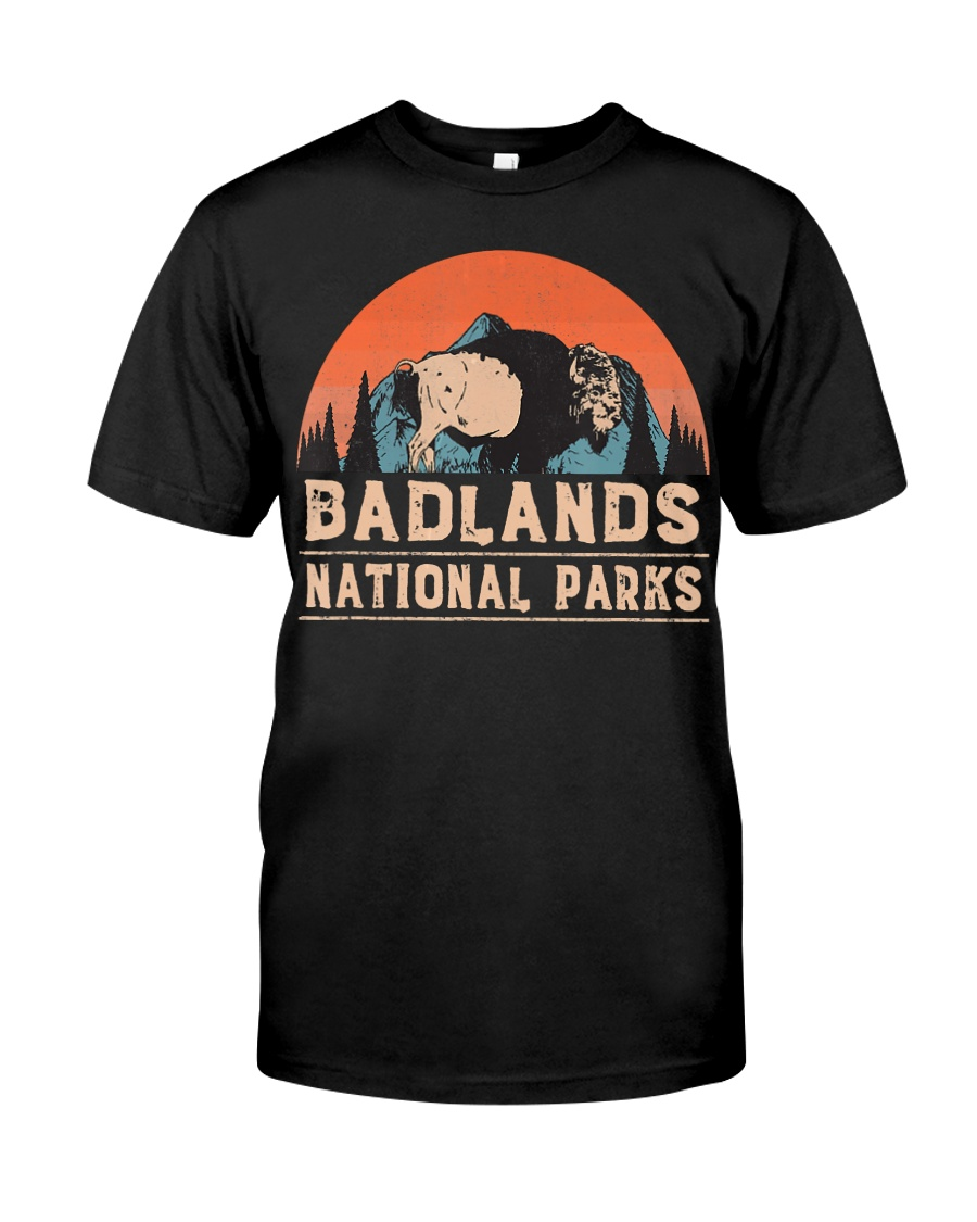 Vintage Badlands National Park T shi Classic T-Shirt