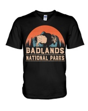 Vintage Badlands National Park T shi V-Neck T-Shirt thumbnail