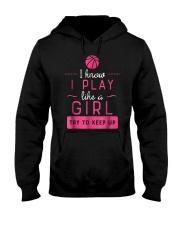 Basketball Shirt -Girls Basketball Gift- P Hooded Sweatshirt thumbnail