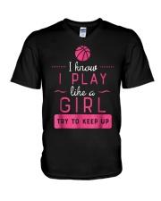 Basketball Shirt -Girls Basketball Gift- P V-Neck T-Shirt thumbnail