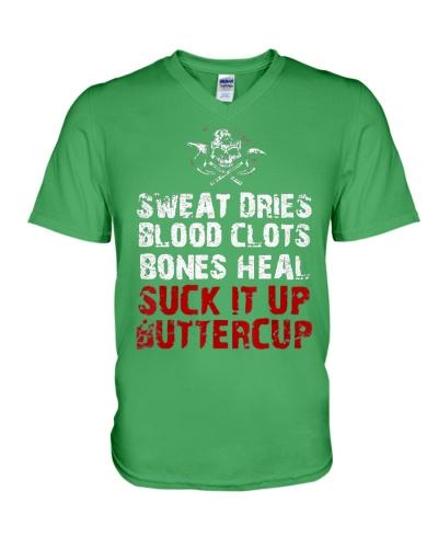 Sweat dries blood clots bones heal suck i