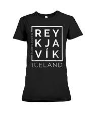 Stylish Reykjavik Iceland City Coordinates So Premium Fit Ladies Tee thumbnail