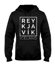 Stylish Reykjavik Iceland City Coordinates So Hooded Sweatshirt thumbnail