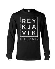 Stylish Reykjavik Iceland City Coordinates So Long Sleeve Tee thumbnail