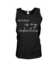 Womens Wine Is My Valentine  Unisex Tank tile