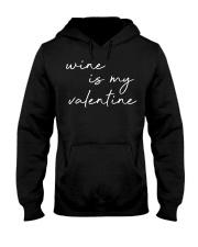Womens Wine Is My Valentine  Hooded Sweatshirt tile