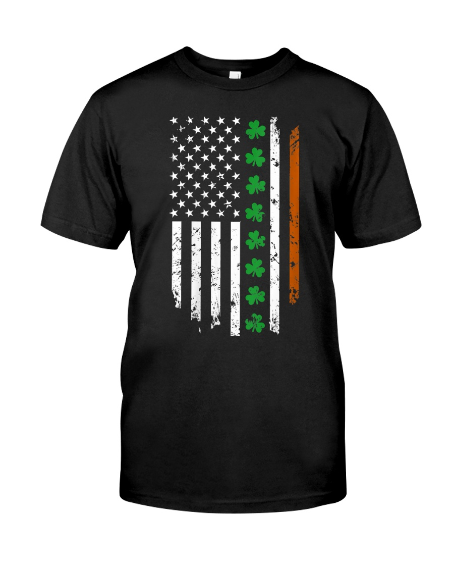 Womens IRISH AMERICAN Flag Ireland Flag ST Classic T-Shirt