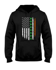 Womens IRISH AMERICAN Flag Ireland Flag ST Hooded Sweatshirt thumbnail